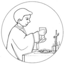 Imágenes de la Eucaristía para colorear