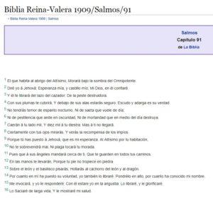 Salmo 91 Reina Valera 1909