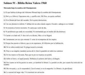 Salmos 91 Reina-Valera 1960