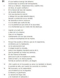 Salmo 91 Reina Valera 1995
