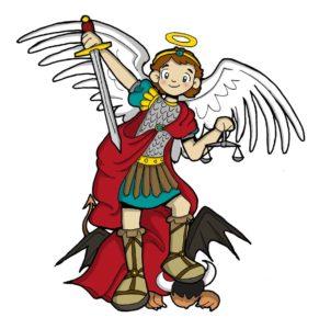 Historia de San Miguel Arcángel para Niños.
