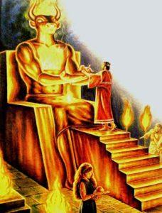 En qué parte de la Biblia habla de no adorar imágenes